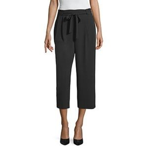 Worthington Tie Front Cropped Pants
